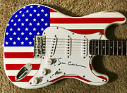 President Bill Clinton Signed American Flag Electric Guitar Psa/dna Hillary