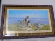 David Shepherd Limited Signed Serengeti 616 Signed And Framed 16x31 Mint Cond