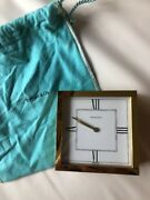And Co. Atlas Brass Swiss Made Table Desk Clock Travel Personalized 1997