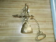 Vintage Solid Brass Wall Mount Hanging Church Door/gate Bell 8 With Screw's