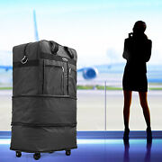 30 Rolling Wheeled Duffel Bag Spinner Suitcase Luggage Expandable In Black