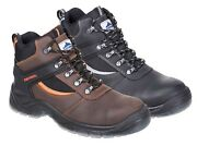 Portwest Steeliteandtrade Mustang Boot S3 Ankle Support Leather Safety Footwear Fw69