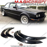 For 84-92 Bmw E30 2dr Coupes Polyurethane Fender Flares Kit Front And Rear Set