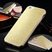Luxury Metal Aluminum Frame Carbon Fiber Back Case Cover For Iphone 6s And 6s Plus