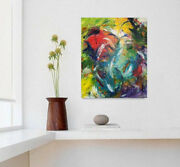 Modern Colorful Large Painting Acrylic Wall Decorabstract Canvasart Fireworks
