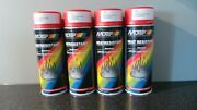 4x Vht 300anddegc Very High Temperature Red Spray Paint Exhaust/manifolds/engines