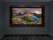 Sunburst Peak Panorama | Limited Edition Acrylic Mounted Metallic Print | Signed