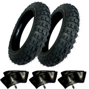 2 Hd Tires And 3 Tubes Straight Stem 2.50-10 2.50x10 For Honda Crf50 Crf 50cc