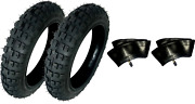 2 Hd Tires And Tubes Straight Stem Size 2.50-10 2.50x10 For Honda Crf50 50cc