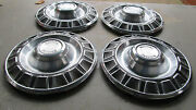 Nice Oem 1970 One Year Only Ford Mustang Hubcap Set Gt Fastback Mach I Hub Cap