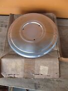 Nos Chevy Cadillac Stainless Steel Dog Dish Wheel Center Hub Cap New Gm
