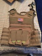 Body Armor Ar500 Plates 1/4 Frag Coating Sentry Coyote Brown Level 3