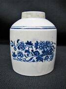 18th Century First Period Worcester Tea Caddy With Floral And Chinoiserie Motifs