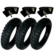 Hd 3 Tires And 3 Tubes Straight Stem Size 2.50-10 2.50x10 For Honda Crf50f 10