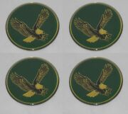 4 - Green Bird Eagle Logo Wheel Rim Center Cap Round Decal Sticker 1-15/16 49mm