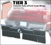 Towtector Mud Flap 78x16 Dual Brush Strips W/ Ford Truck Wings - 2.5 Receiver