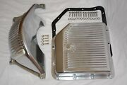 Gm Turbo 350 Th-350 Polished Aluminum Flywheel Dust Cover And Transmission Pan