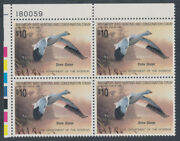 Rw55 Andbull 1988 Duck Stamp Andbull Vg Mint Original Gum Nh Plate Block 10.00 Value