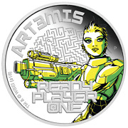 2018 Ready Player One - Art3mis 1 Oz Silver Proof 1 Coin Spielberg New Movie