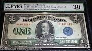1923 Dominion Of Canada 1 . Pmg 25 Catalogue Dc25c Blue Seal