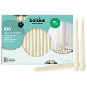 Ivory Taper Candle In Bulk 10 Inch High 100 Count In A Box - By Bolsius