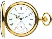 Gold Plated Pocket Watch Polished Half Hunter With 17 Jewel Movement Gift Box