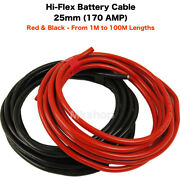 Battery Starter Welding Cable 16/20/25/35/50mm 110 170 Amp Red Black Auto Car