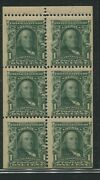 1903 Us Stamp 300b 1c Mint Never Hinged F/vf Booklet Pane Of 6 Wmk. 191 Perf 12