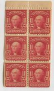 1903 Us Stamp 319p 2c Mint Never Hinged F/vf Booklet Pane Of 6 Type I
