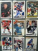 Small Collection Of 45 Signed Hockey And Basketball Cards