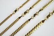 Authentic 14k Solid Yellow Gold Miami Cuban Link Chain 2.5mm-5mm/1830