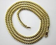 Authentic 14k Solid Yellow Gold Miami Cuban Link Chain 5mm/2230