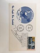 1969 First Man On The Moon Stamp Envelope Autographed By Buzz Aldrin