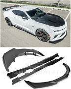 Zl1 Style Front Lip Splitter Side Skirts And 1le Rear Spoiler For 16-up Camaro Ss