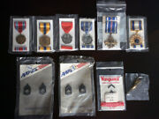 Us Military Medals 🎖️ Flying Cross Commendation Combat Action Distinguished Lot