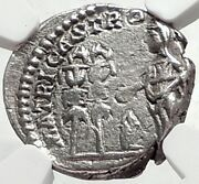 Julia Domna As Mother Of The Army Authentic Ancient Silver Roman Coin Ngc I68127