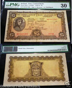 Ireland 1946 Lady Lavery Andpound5 Five Pounds Pmg 30 Scarce Over 70years Old