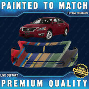 Painted To Match Front Bumper Cover Direct Fit For 2013-2015 Nissan Altima Sedan