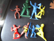 Lot Of 8 Vintage Plastic Toy Soldier Figures Tim Mee Mpc Others