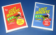 2008 Lost Wacky Packages 2nd Series Complete 33/33 Set + Puzzle - 2 Sealed Packs