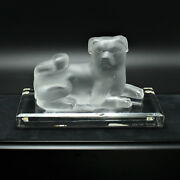 Faberge Frosted Crystal Chinese Dog Pate De Verre 6 Of 700 On Base