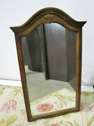 Ethan Allen Beveled Glass Mirror 5420 Country French Carved Crest 26-5410