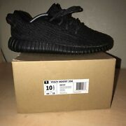 Adidas Yeezy 350 Boost Pirate Black 100 Authentic Size 10.5