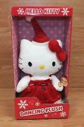Genuine Sanrio Hello Kitty Dancing Light Up Holiday Plush Doll New In Box
