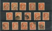 15 Vf To Superb Centered Small Queen 1 And 3 Cent Canada Used