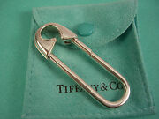 Rare Vintage And Co Sterling Silver Clasp Safety Diaper Pin Key Ring Chain