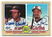 2017 Topps Heritage Real One Frank Robinson And Adam Jones Dual Autograph 19/25
