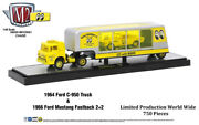 M2 Machines Auto Hauler Mooneyes Chase 1964 Ford C-950 Truck And 1966 Mustang