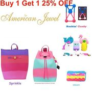 American Jewel Yummy Gummy Backpacks Wristlets Accessories--buy 2 And Save