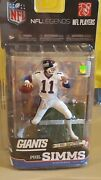 Mcfarlane Nfl Legends Series Phil Simms New York Giants White Jersey 45 Of 100